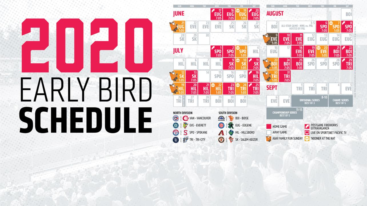 Canadians Announce 2020 Early Bird Schedule