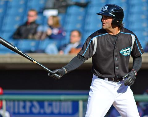 Mike Costanzo homered, doubled and drove in three runs on Wednesday.