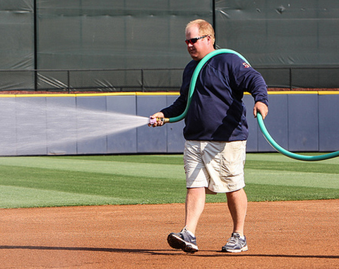 Chris Ball, 2013 Triple-A Sports Turf Manager of the Year (Karl Moore)