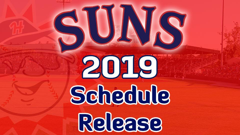 picture regarding Washington Nationals Printable Schedule named Suns Launch 2019 Month-to-month Time Agenda Hagerstown Suns Information