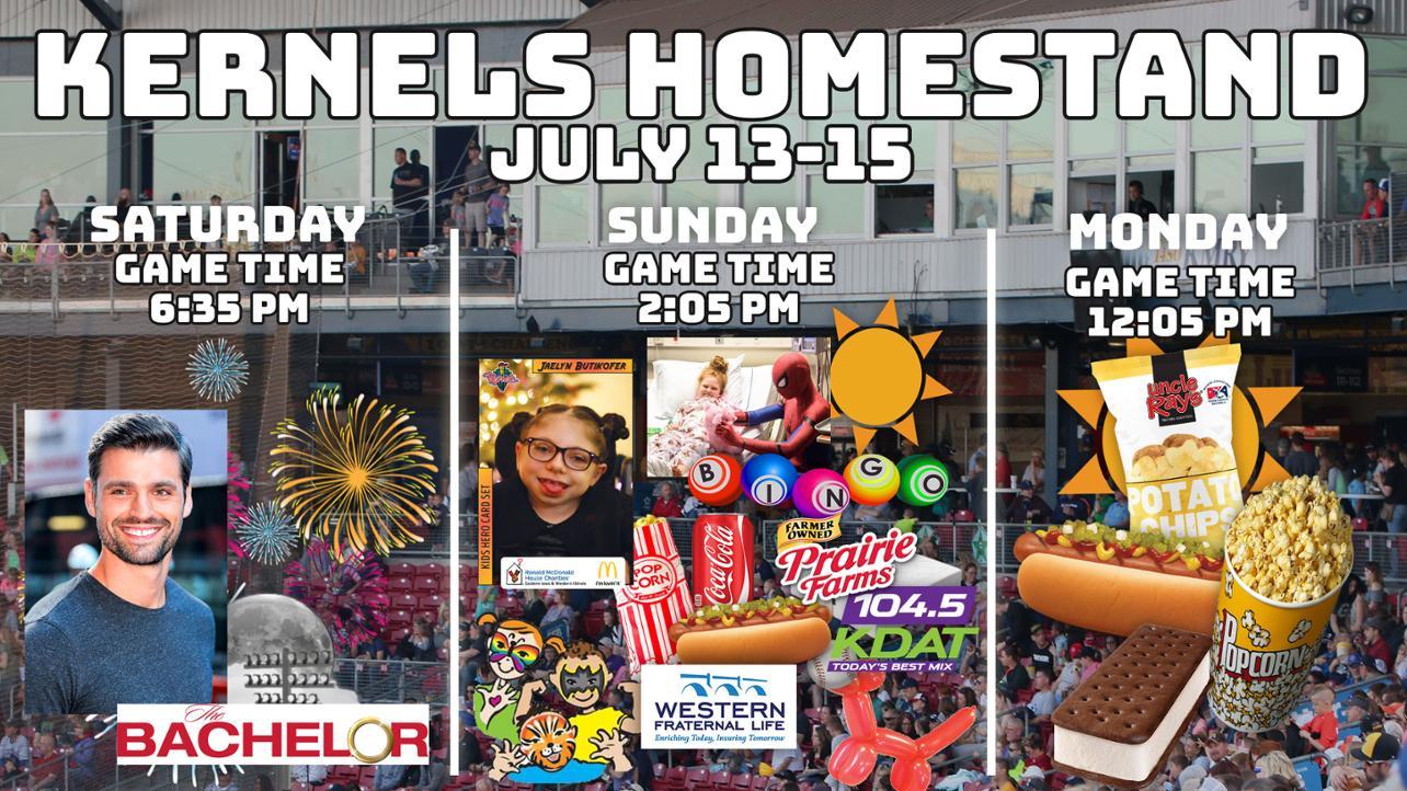 Kernels Homestand Preview: July 10-15