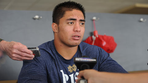 Football player Manti Te'o is at the center of the new year's strangest story.