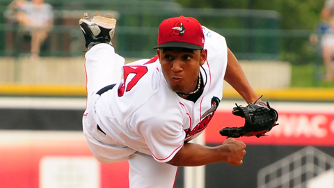 Loons right-hander Angel Sanchez is the Dodgers' No. 8 prospect.