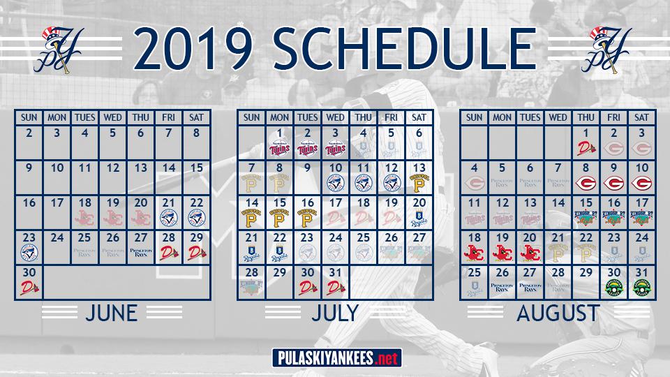 Pulaski Yankees Release 2019 Schedule Pulaski Yankees News