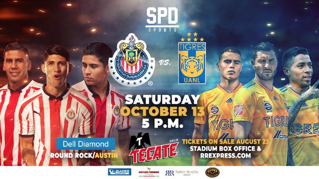 Chivas And Tigres To Meet At Dell Diamond In Liga Mx