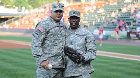 The team has honored our nation's armed forces in the past, but it will become a nightly event at the reconstructed PNC Field in 2013.