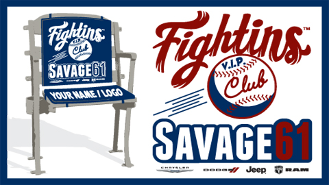 The Savage 61 Fightins VIP Club is a premier area catered to both baseball fans and business leaders.