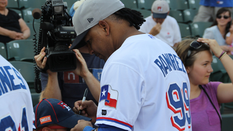 Manny Ramirez signed with the Texas Rangers on July 3.