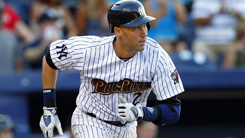 Derek Jeter is 1-for-4 with three walks in two rehab games.