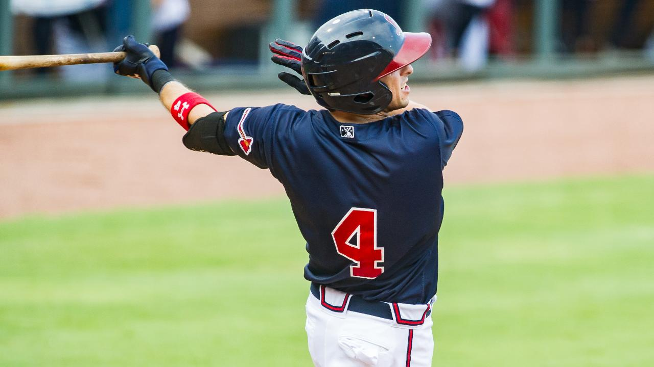Sean Kazmar Jr. homered for the 10th time this season on Thursday night in  Norfolk. (Will Fagan) b0431f480