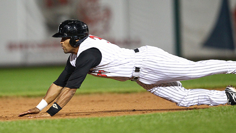 Johnson stole 61 bases in 77 games with Kannapolis in 2013.
