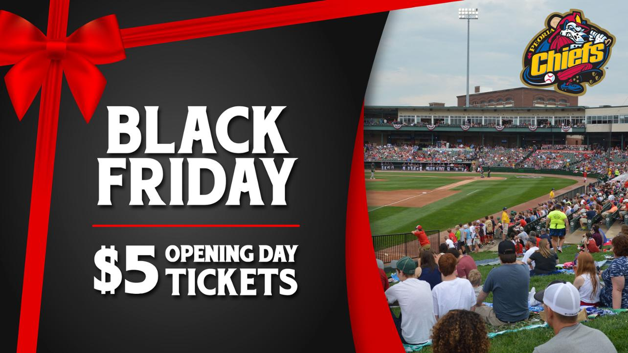This year on Black Friday purchase $5 Opening Day tickets (Seating Bowl or Lawn) for the April 6, 2019 Home Opener!
