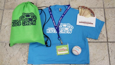 Here are the items members of the 2013 Timber Rattlers Kids' Crew will receive for joining the club.