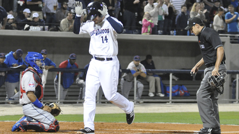 Travis Mattair provided the game-winning double for Pensacola on Monday night.
