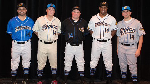 The RubberDucks will wear their electric blue alternates 24 times in 2013.