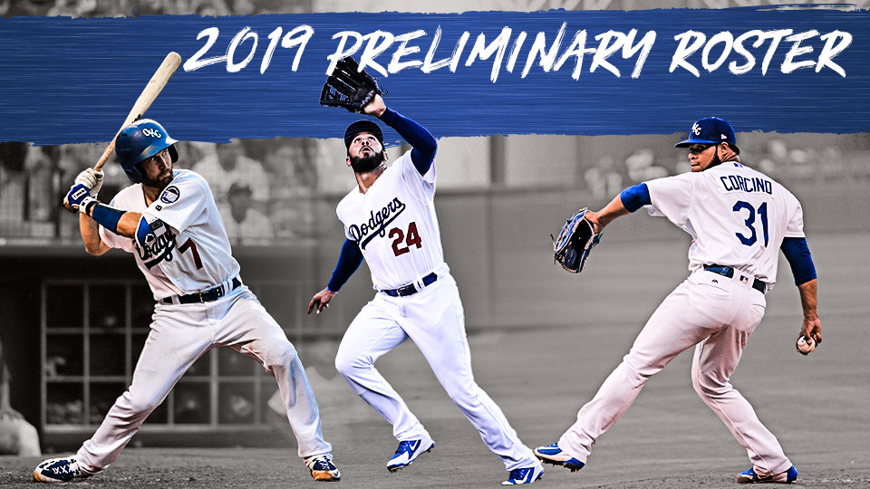 b2def62db0d Roster features four of top 11 Los Angeles Dodgers prospects  Over half has  previous Major League experience