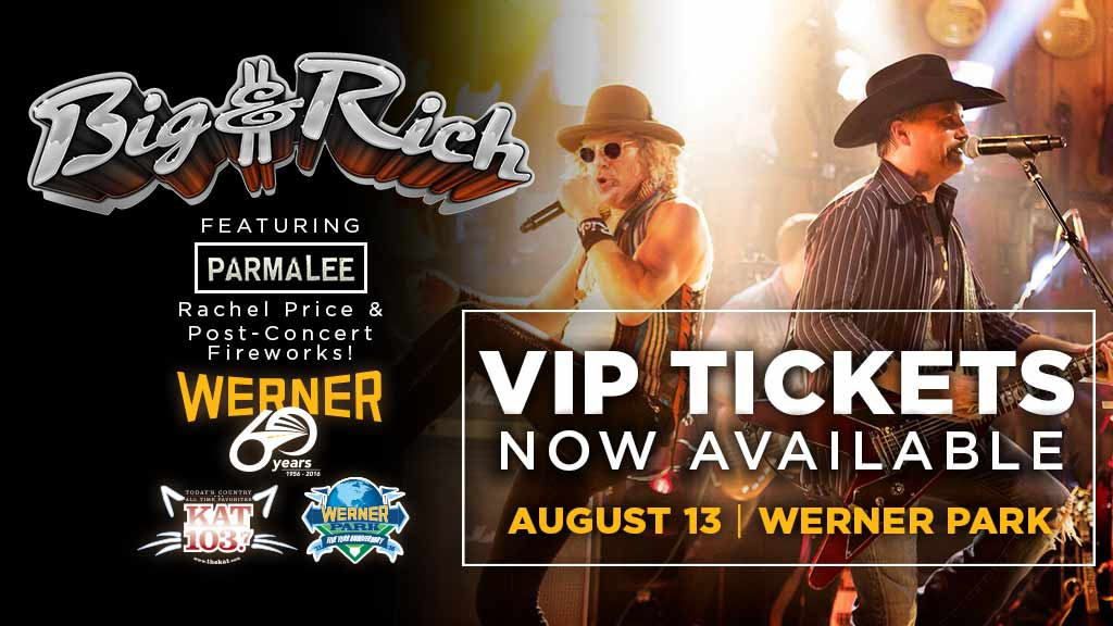 More Vip Tickets Released For Werner Enterprises Country Concert