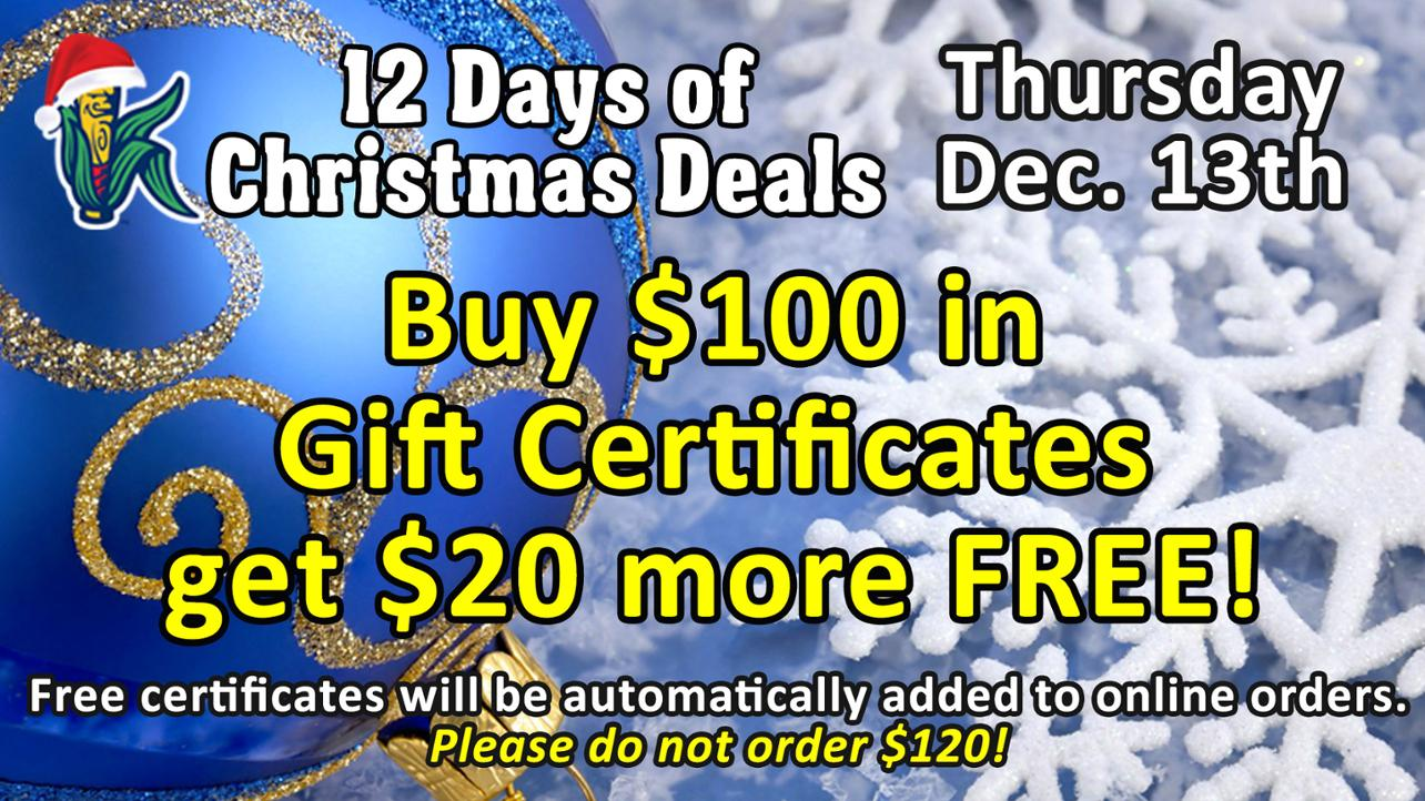 Kernels 12 Days of Christmas Deals