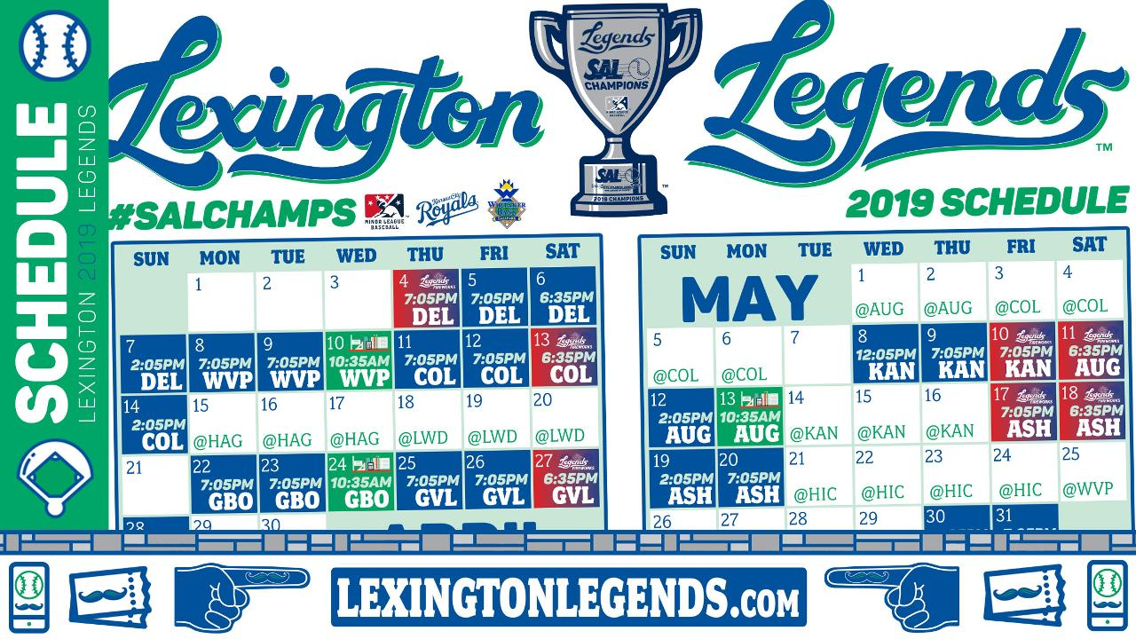 photo about Kc Royals Schedule Printable named Choose A Visual appearance Into the Foreseeable future; Legends Announce 2019 Routine
