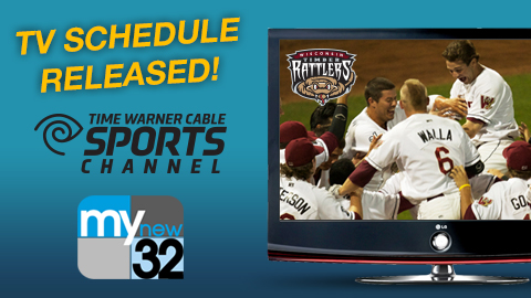 A record number of Timber Rattlers games will be televised this year!
