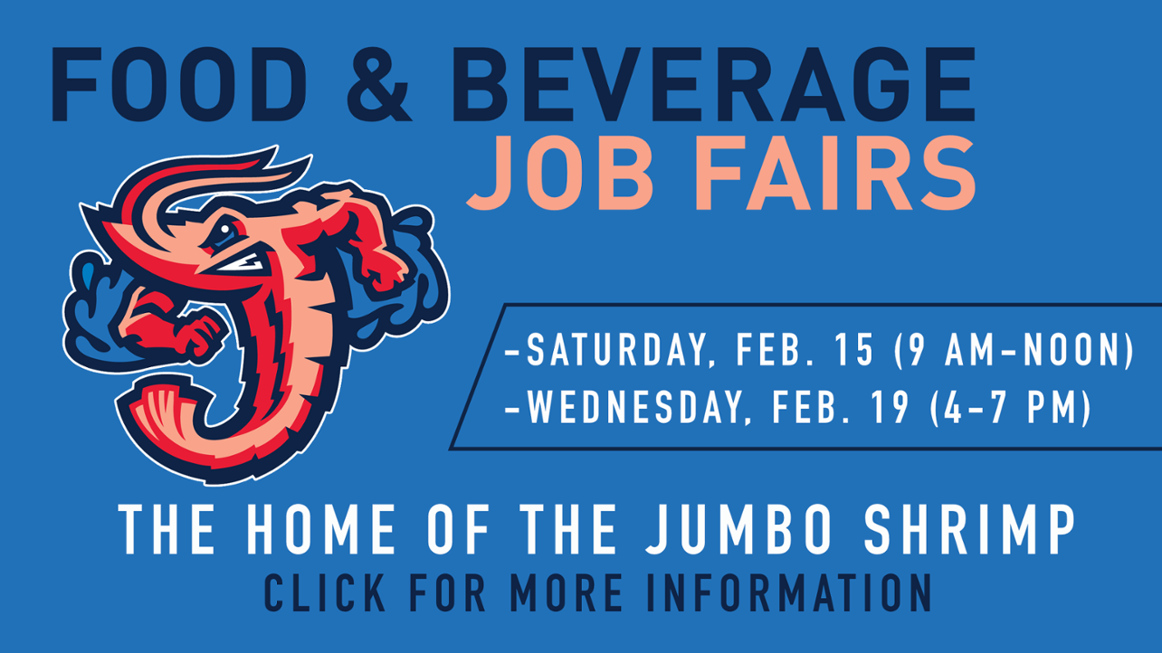 Jumbo Shrimp to hold food & beverage job fairs Feb. 15 & 19