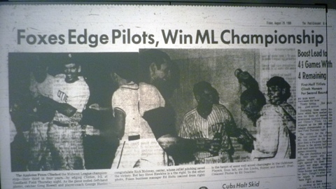 The headline on the sports section of The Post-Crescent on August 29, 1969.