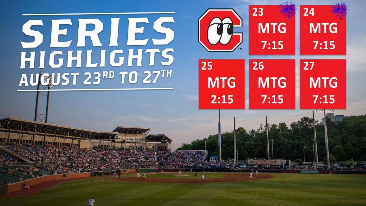 Lookouts vs. Generals | August 23rd to 27th