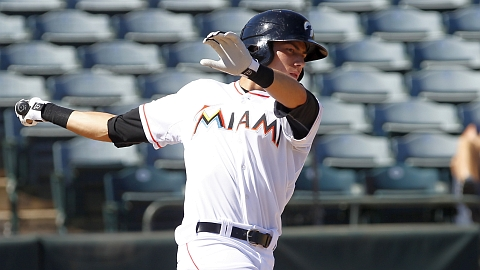 Marlins prospect Christian Yelich hit .329 with 12 homers in 2012.