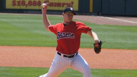 Erik Johnson has 25 strikeouts in 25 1/3 innings for Double-A Birmingham.
