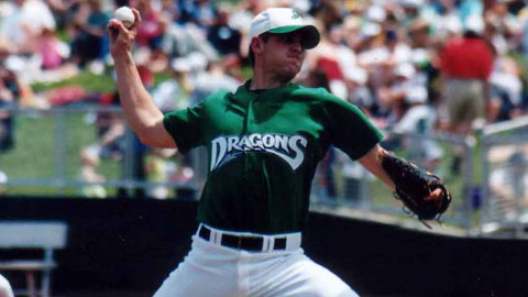 Josh Hall with the Dragons in 2001.