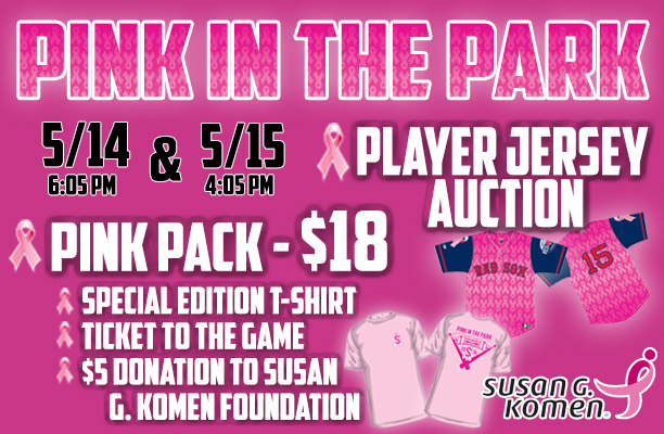 9459b3f02 About Pink in the Park and Susan G. Komen for the Cure: The Salem Red Sox  ...