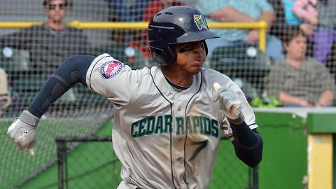 Byron Buxton is third in the Midwest League with a .343 batting average.