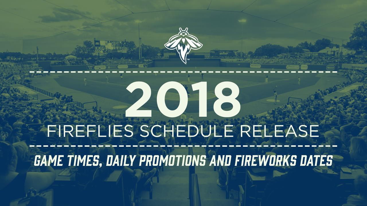 Fireflies Release 2018 Game Times, Daily Promotions and Fireworks