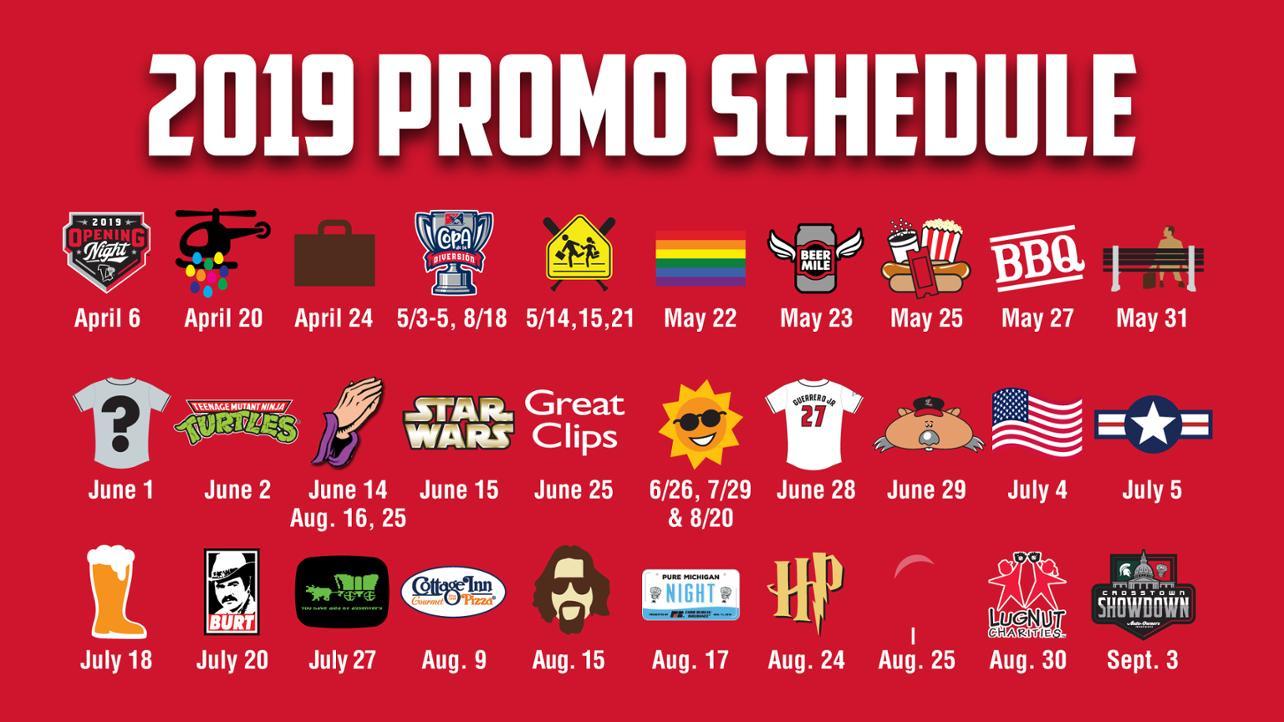 Promo Schedule released