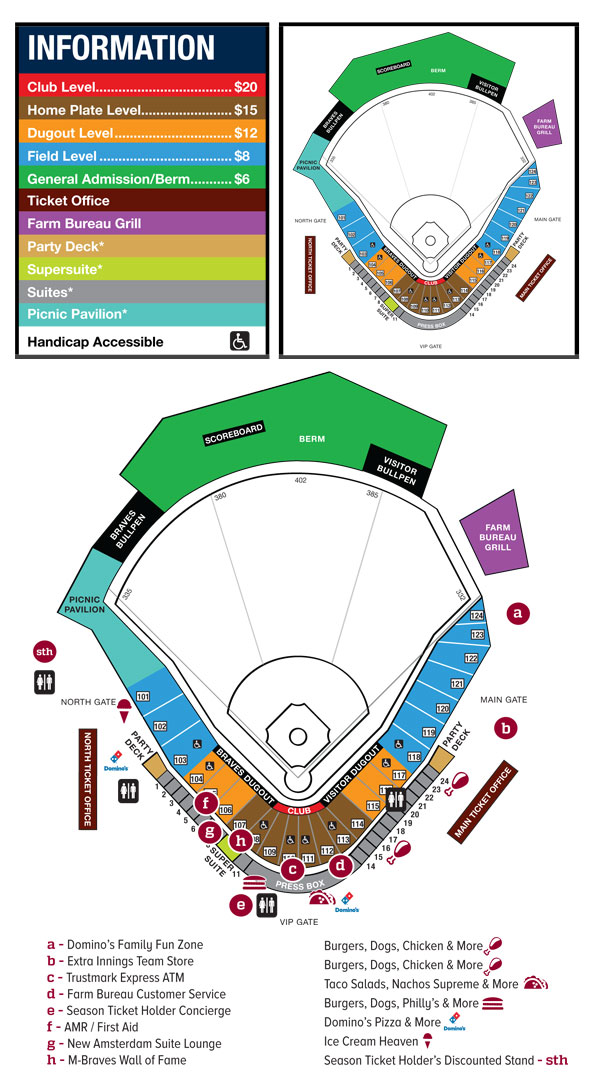 Seating Chart | Mississippi Braves Trustmark Park
