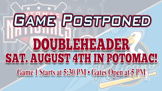 P-Nats and Pelicans Postponed in Myrtle Beach | Potomac