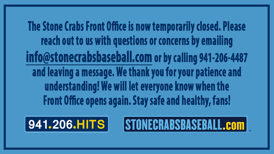 Front Office is Temporarily Closed