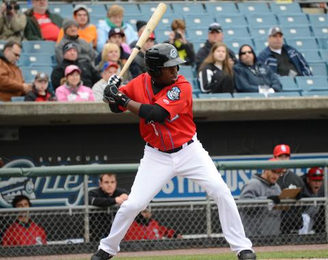 Eury Perez led off Tuesday's game with his fifth home run of the season.