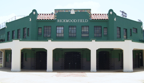 The iconic front entrance at Rickwood Field, the home of the Barons from 1910-1987. Rickwood Field is the oldest in-use ballpark in America.