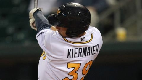 Kevin Kiermaier leads the Southern League with a .323 batting average.