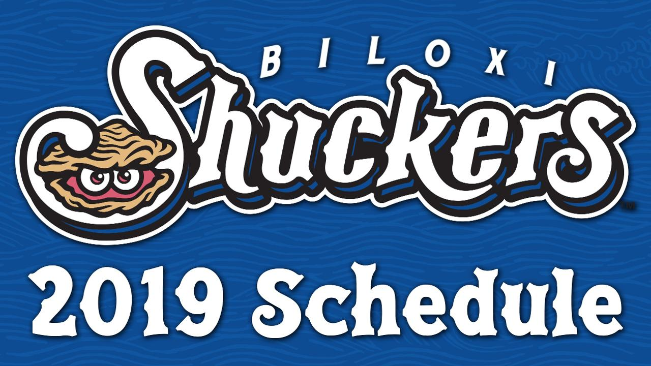 image about Brewers Schedule Printable known as 2019 Shuckers Agenda Declared Biloxi Shuckers Information