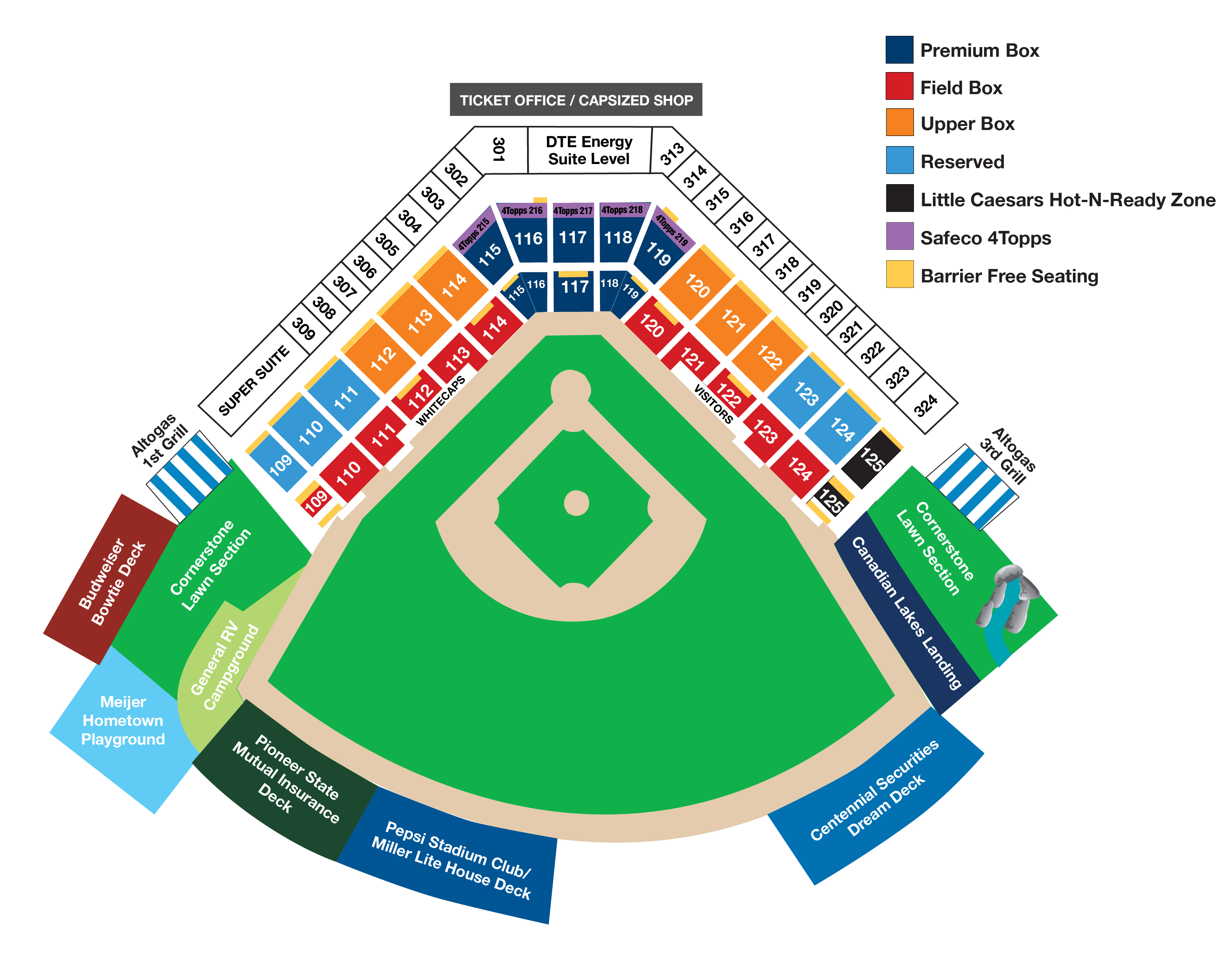 Kauffman Stadium Seating Chart With Rows And Seat Numbers