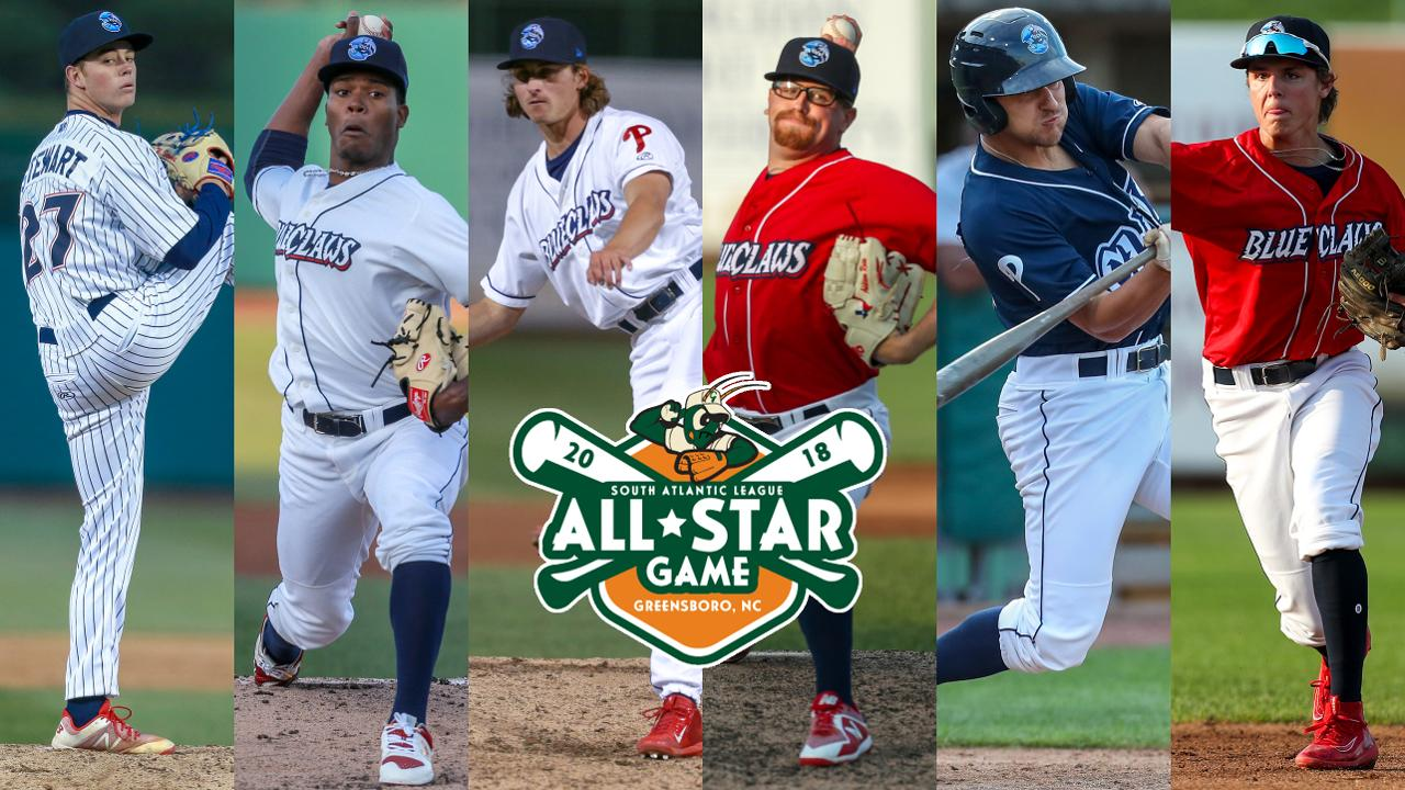 757e321e933 Six BlueClaws Named South Atlantic League All-Stars. Will Stewart named  starting pitcher for Northern Division