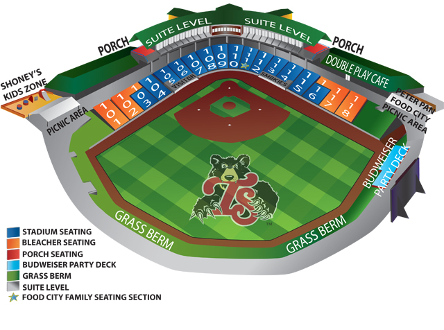 2014 Smokies Ticket Prices Amp Seating Chart Tennessee