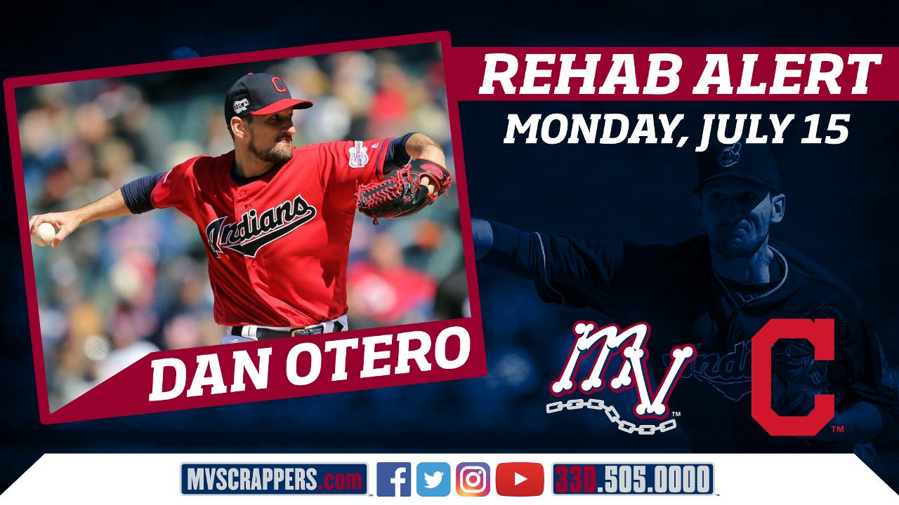Indians' Pitcher Dan Otero to Make Rehab Appearance on