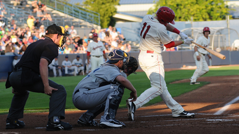 Royce Bolinger's 23-game hitting streak was the longest in the Northwest League in 2012.