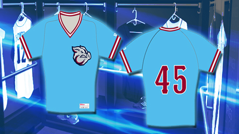 IronPigs 2013 Summer Jersey was inspired by the Phillies of the 1970's.