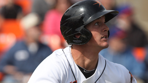 Catcher Michael Ohlman was named Carolina League Player of the Week for the week of June 17-23.