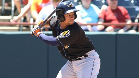 Before earning his first call to the Majors, Francisco Mejia posted a .297/.346/.490 line for Double-A Akron.