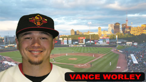 Vance Worley allowed five hits and struck out four Monday.